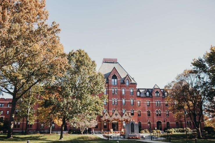 Dean Hall on a sunny fall day