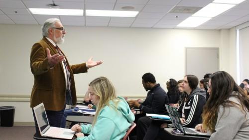 Dr. Pete Savo teaching a class